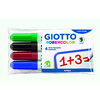 GIOTTO ROBERCOLOR OGIVE LARGE POCHETTE 4 MARQUEURS ASSORTIS