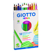 ETUI 12 CRAYONS COULEUR GIOTTO MEGA  ASSORTIS