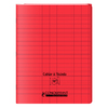 CAHIER A RABAT 24X32 96P 90G SEYES ROUGE PP