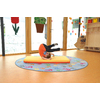 TAPIS DE GYMNASTIQUE ORANGE/JAUNE