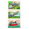 LOT 3 PUZZLES BOIS A L INTERIEUR DES TRANSPORTS 60 PIECES