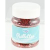 PAILLETTES SCINTILLANTES LARGES POT 150GR ROUGE