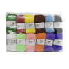 LOT 12 PELOTES LAINE 25GR COULEURS ASSORTIES