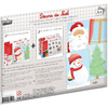 KIT SUPPORT 20 FEUILLES DECORS DE NOEL